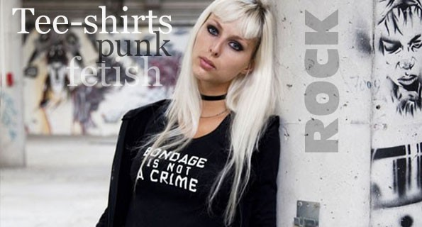 Tee-shirts punk goth rock